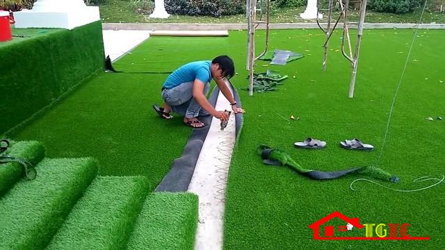 Thảm cỏ nhân tạo sân vườn có giá trị thẩm mỹ cao